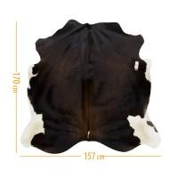 Коровья шкура темно-коричневая в сочетании с белым