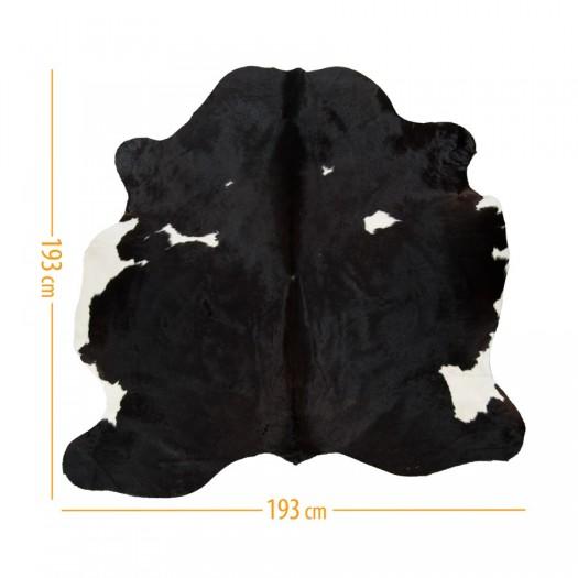 """Коровья шкура черная в сочетании с темно-коричневым и белым """"D-42"""""""