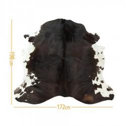 Коровья шкура темно-коричневая с белым