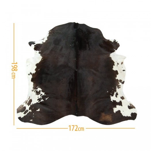 """Коровья шкура темно-коричневая с белым """"D-49"""""""