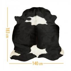 Коровья шкура черная в сочетании с темно-коричневым и белым