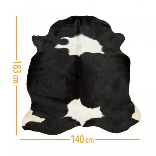 """Коровья шкура черная в сочетании с темно-коричневым и белым """"D-53"""""""