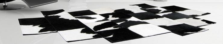 Современные ковры из шкур ручной работы