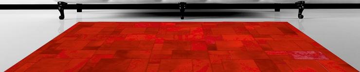 Яркие ковры из шкур ручной работы