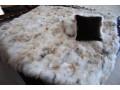 Покрывало и подушки из меха лисы