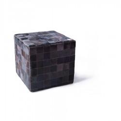 Чехол на пуф-куб из шкуры Mocca