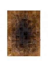 """Ковер из коровьей шкуры темно-коричневый экзотик """"K-1622"""""""