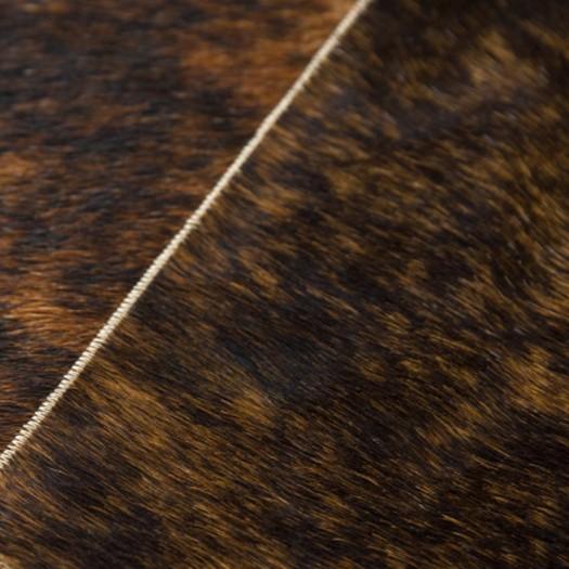 "Ковер из коровьей шкуры бежево-коричневый экзотик ""K-1620"""