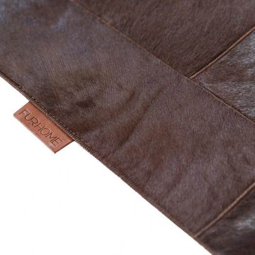 "Ковер из коровьей шкуры темно-коричневого цвета ""K-6233"""