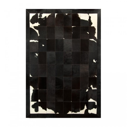 """Ковер из коровьей шкуры черно-коричнево-белый """"K-1701"""""""
