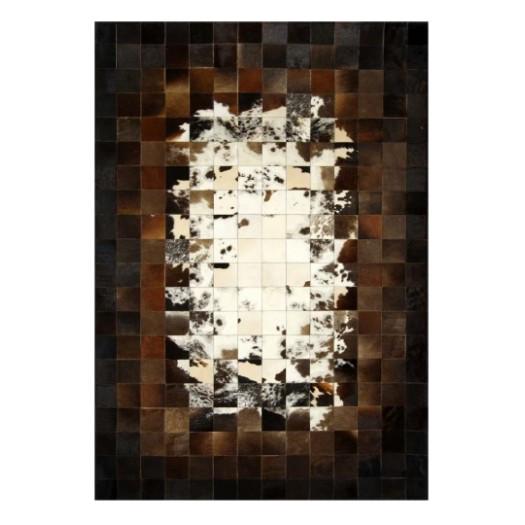 """Ковер из коровьей шкуры бело-коричнево-черный """"K-7931"""""""