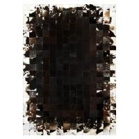 """Ковер из коровьей шкуры черно-коричнево-белый """"K-931"""""""