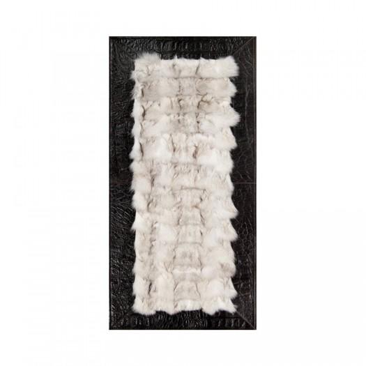 Прикроватный коврик из меха лисицы белого цвета