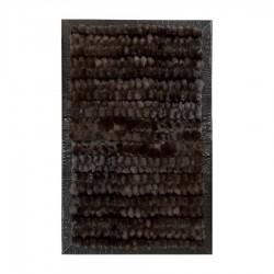 """Ковер из меха лисицы темно-коричневый """"KF-1523"""""""