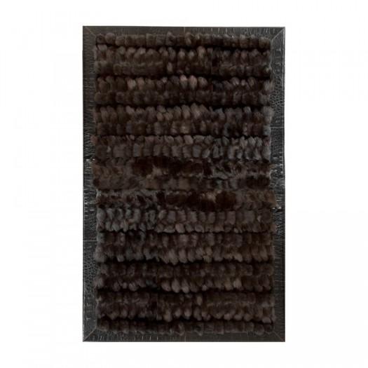 """Ковер из меха лисицы темно-коричневого цвета """"KF-1523"""""""