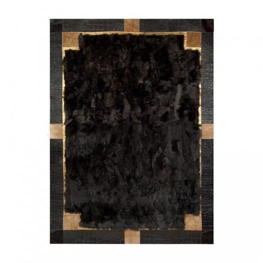 Ковер из меха тоскана темно-коричневого цвета
