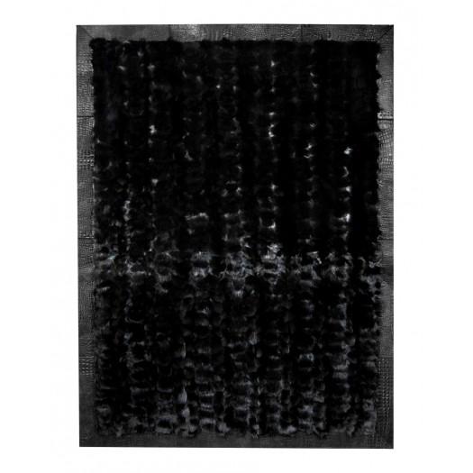 """Ковер из меха лисицы черного цвета """"KF-1225"""""""