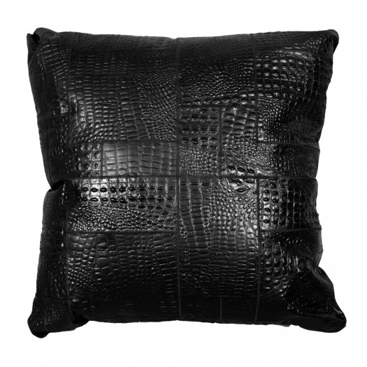 """Декоративная подушка из кроко-кожи """"Pd-16"""""""