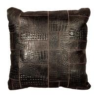 """Декоративная подушка из кроко-кожи """"Pd-17"""""""