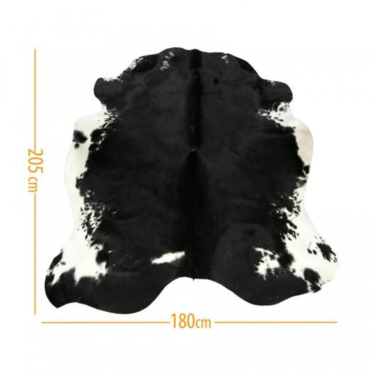 """Коровья шкура черная с белым """"D-51"""""""